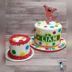 Elmo Birthday and smash cake