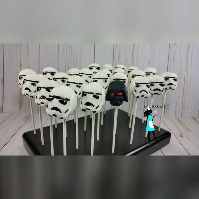 The dark side! Cake pops for my son's birthday