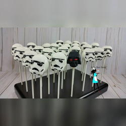 The dark side! Cake pops for my son's birthday