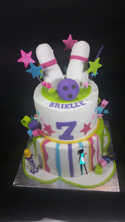 Bowling Party Birthday Cake