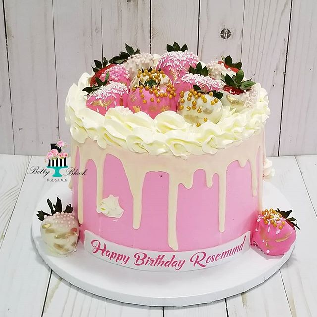Drip Birthday Cake