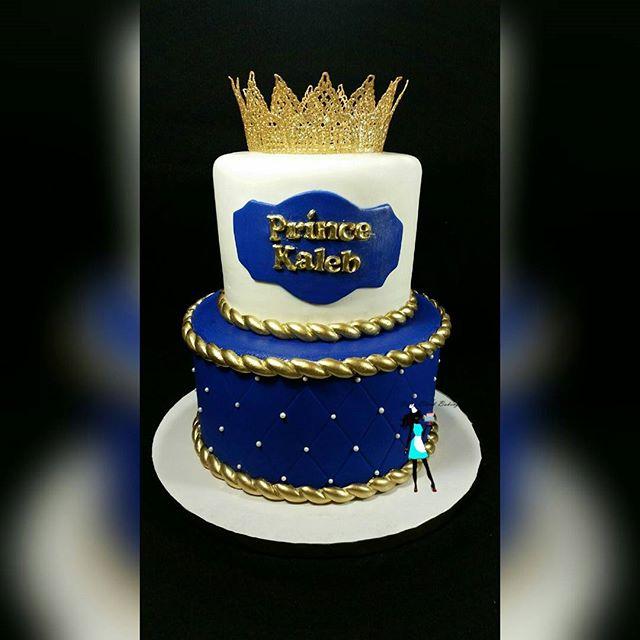Royal prince themed Baby shower cake. Vanilla & chocolate cake