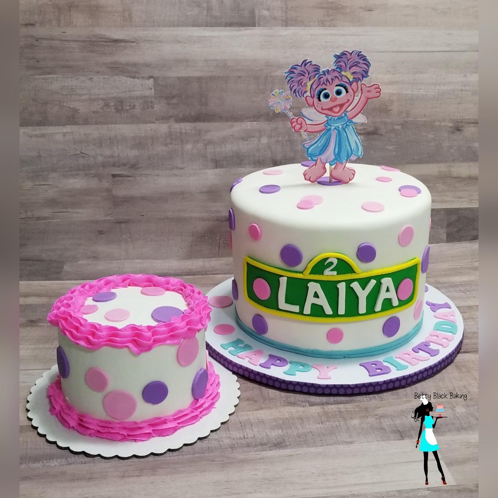Abby Cadabby Birthday Smash Cake