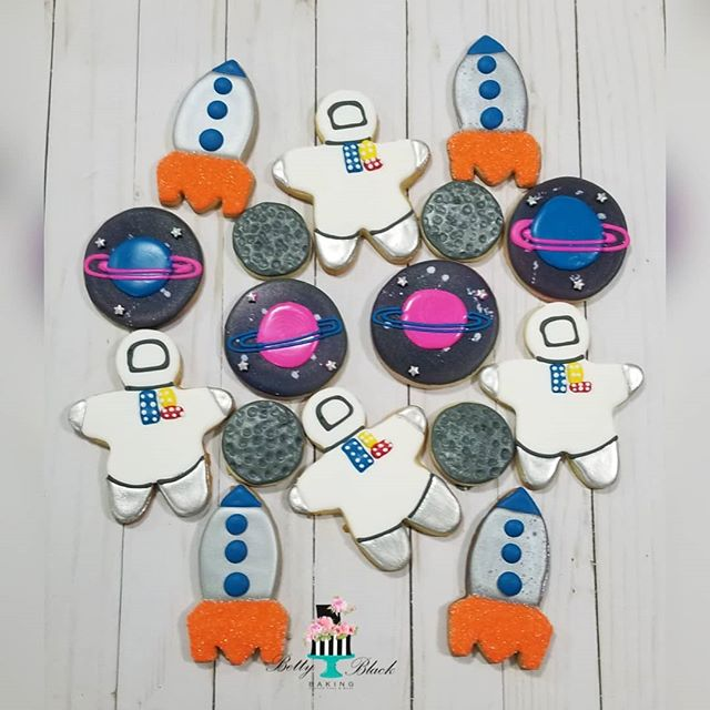 Galaxy themed birthday cookie set! _astr