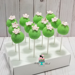 Garden theme cake pops