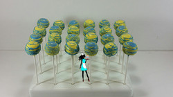Yellow & Blue Simple Cake Pops