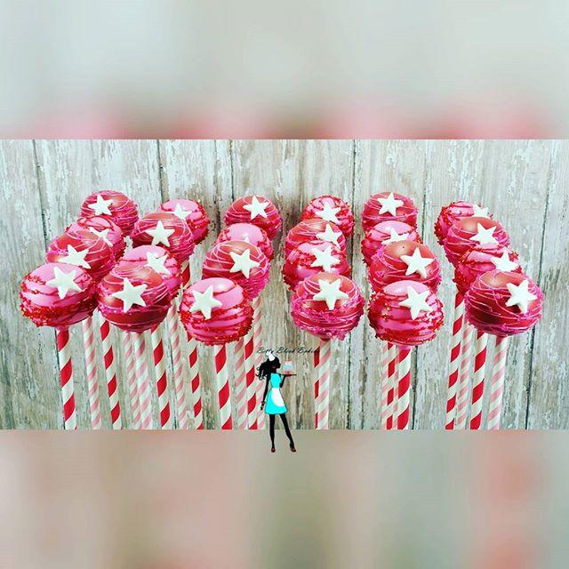 American Girl cake pops. Strawberry cake pops