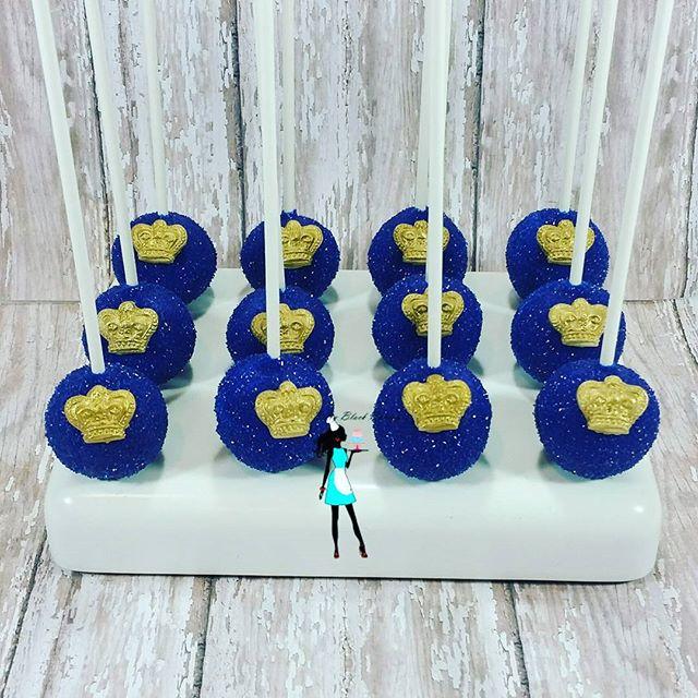Royal blue cake pops