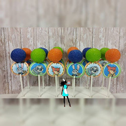 Zootopia Themed Cake pops