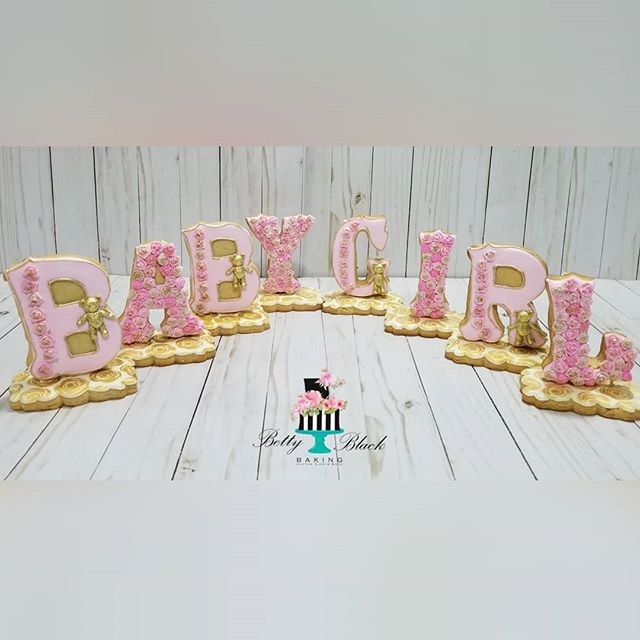 3d cookie letters Baby Girl