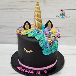 Black Unicorn Birthday Cake