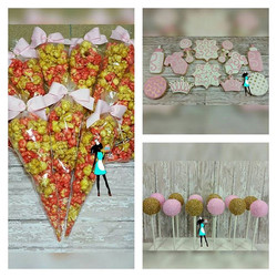 Part of yesterday's delivery, sugar cookies set, cakepops and candied popcorn (strawberry and pineap