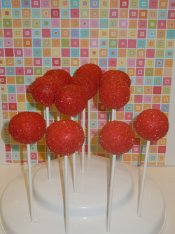 Ruby Red Cake Pops