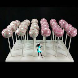 Girl first communion cake pops