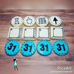 Computer tech birthday cookies