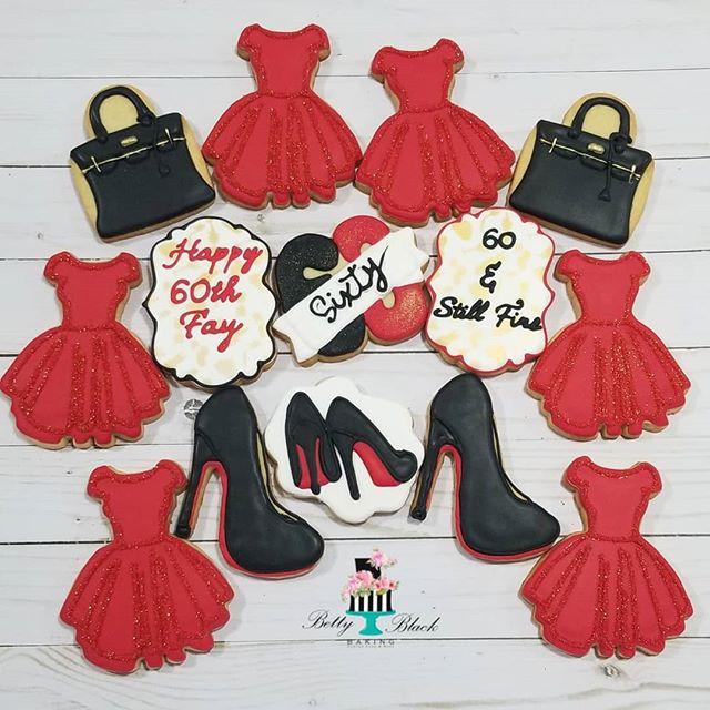 60th birthday fashionista cookie set_._.