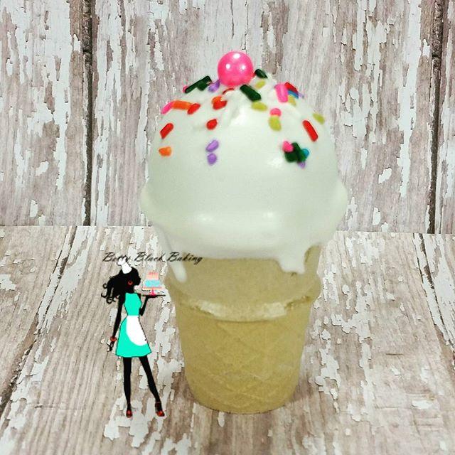 Summer treat cake pop! ICE CREAM CONE cake pop!