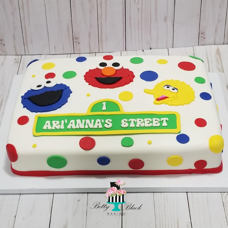 Sesame Street Sheet Cake