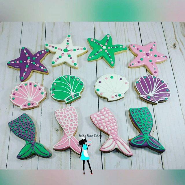 Mermaid theme cookies#plantationcustomcookies#decoratedcookies#954baker#ftlauderdalecustomcookies#me