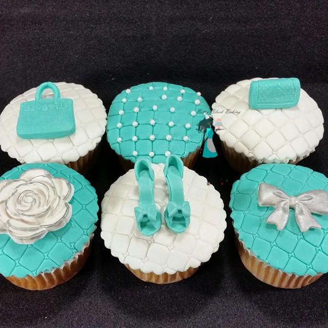 Tiffany Theme Birthday Cupcakes