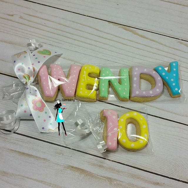 Mini letter name cookies! Great party favors!