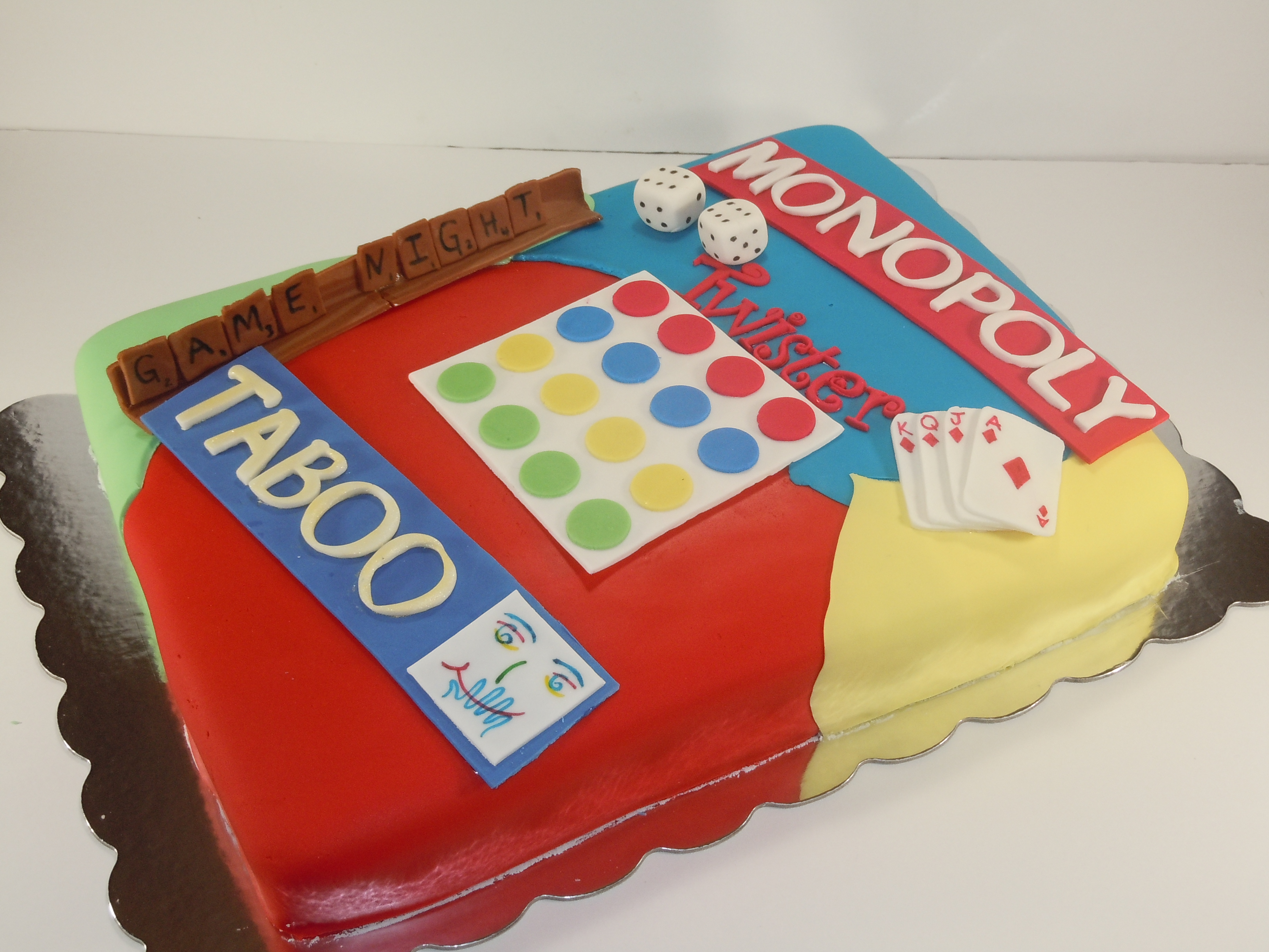 Game night cake