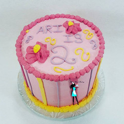 2nd Birthday for a special little girl! Vanilla cake with strawberry jam filling