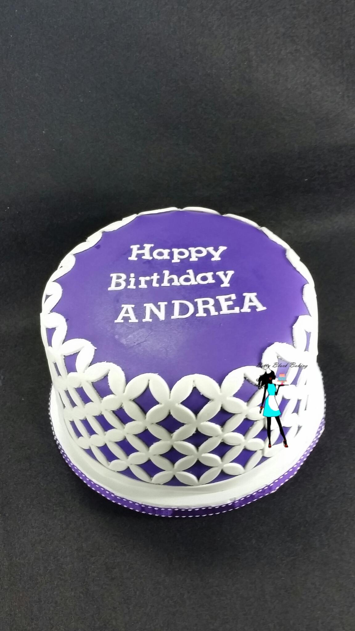 Purple Birthday Cake