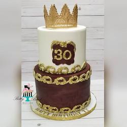 Happy 30th Birthday! Burgandy and gold