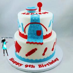 baking themed birthday! Funfetti and chocolate cake #picoftheday#954baker#plantationcustomcakes#ftla