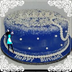 Diamonds and Pearls Birthday Cake