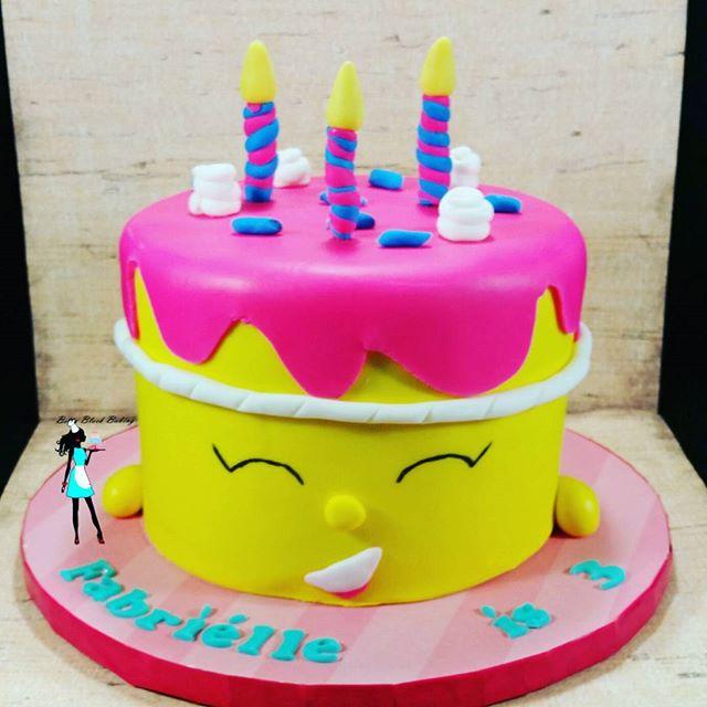 Shopkins Wishes birthday cake. Vegan vanilla cake