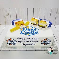 White castle themed cake
