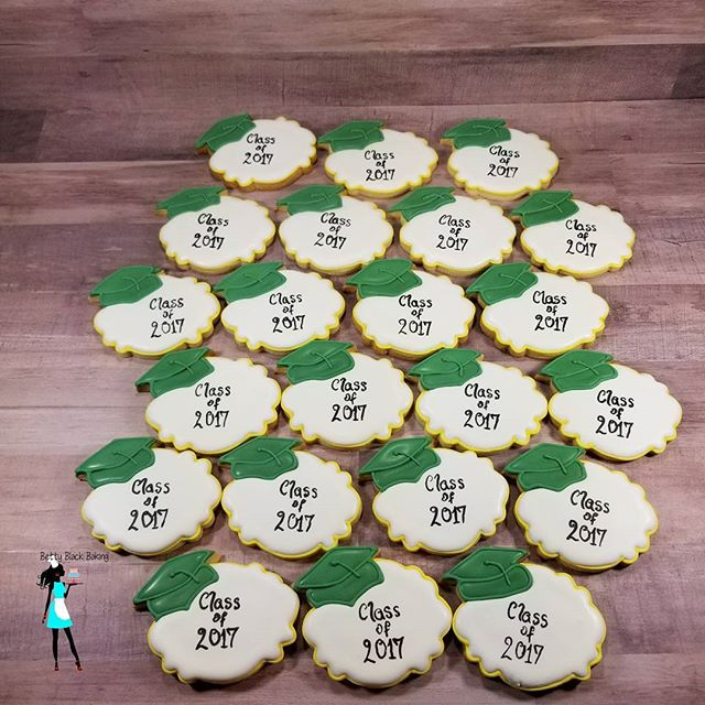 Class of 2017 decorated cookies