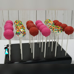 abby & elmo theme cake pops
