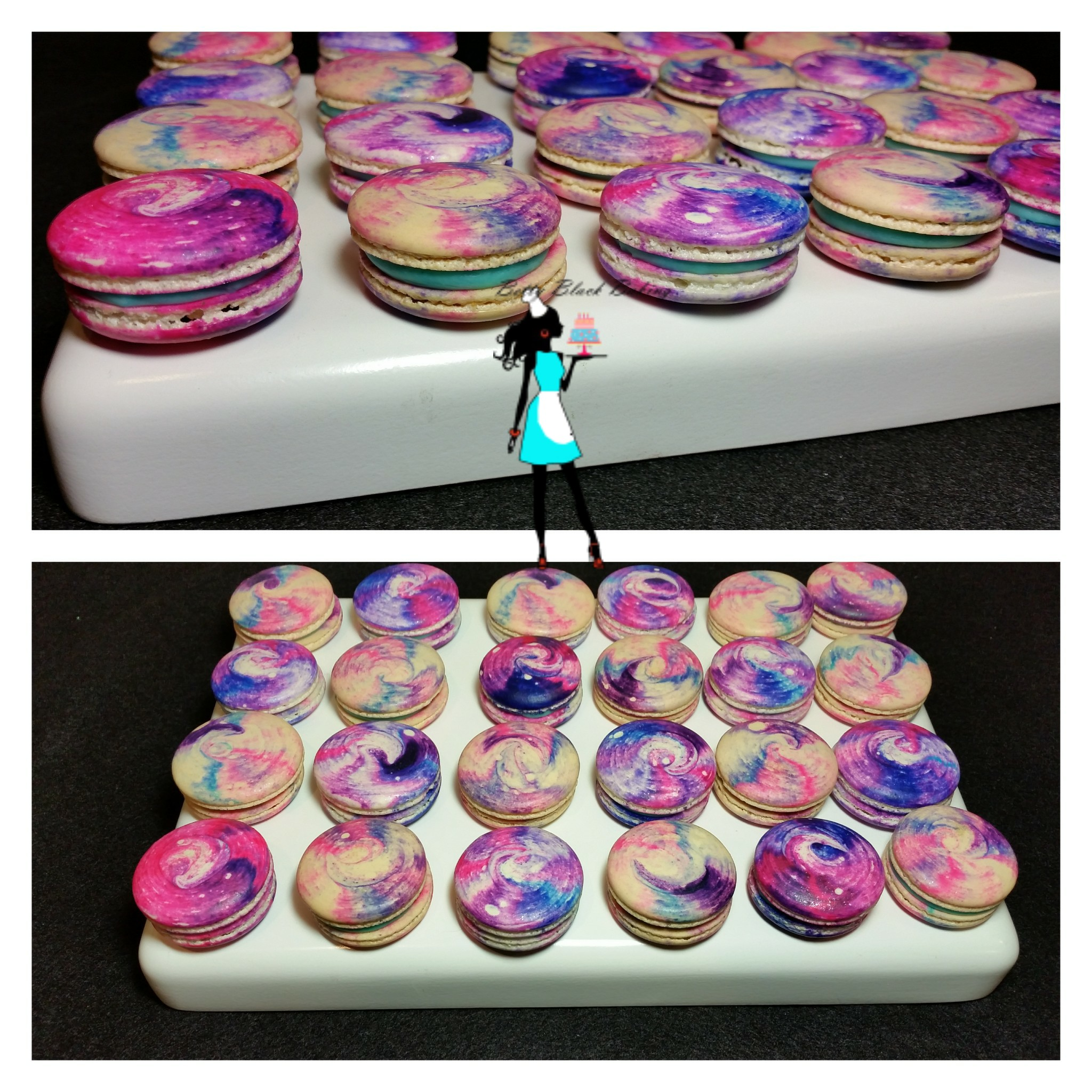Cosmic Cotton Candy Macarons