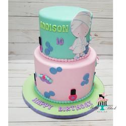 Spa Theme Birthday cake