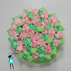 Happy Mother's Day from Betty Black Baking! Mini 6_ flower cake