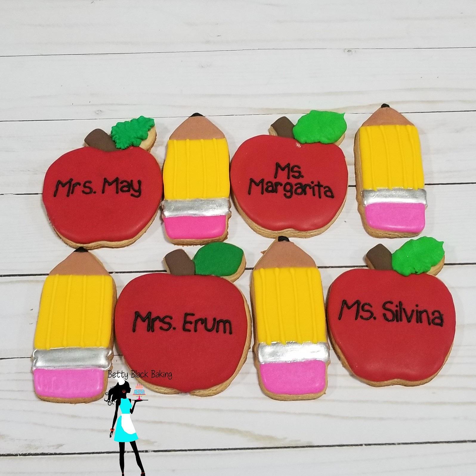 Teacher appreciation cookies