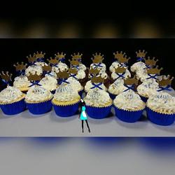 Royal prince themed cupcakes.  Vanilla and chocolate