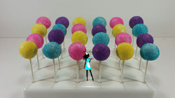 Rainbow color Simple Cake Pops