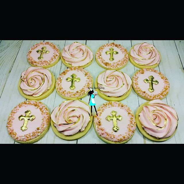 Custom sugar cookies for a baptism