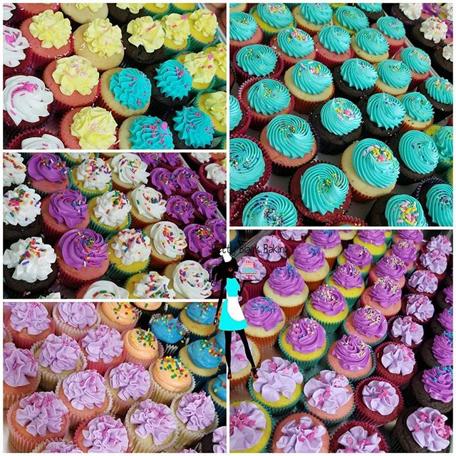 Flashback to last week! My kid's School carnival Cupcakes galore! SOLD OUT! #cupcakes#vanilla#chocol