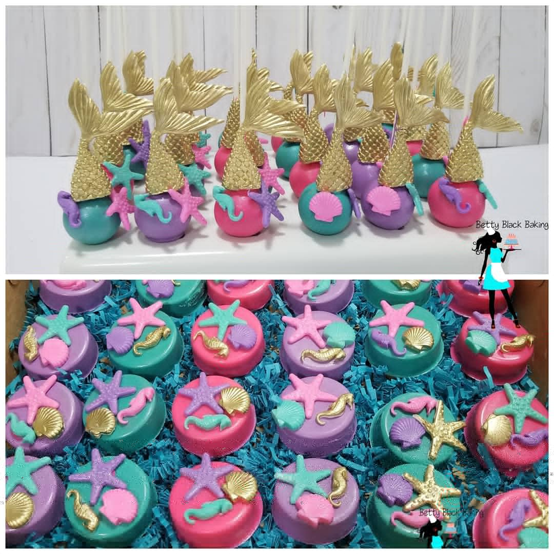 mermaid cake pops & oreos