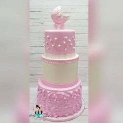 Carriage Baby Shower Cake