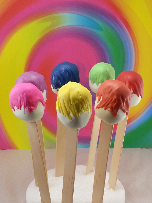 Paintbrush cake pops