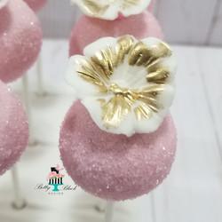 Floral cake pops