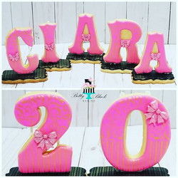 Our signature 3D name cookies for Ciara'
