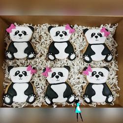 Panda cookies! So cute! #customsugarcookies#decoratedcookies#plantationcustomcookies#pandacookies#95