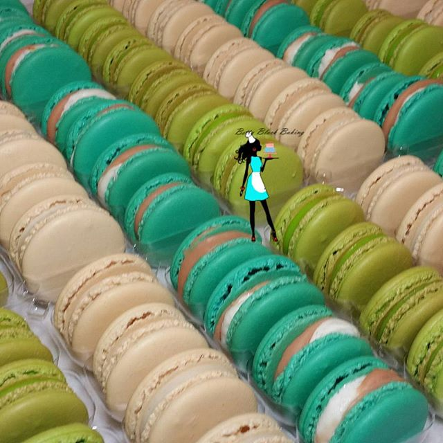 Large macaron order delivered on Monday. Vanilla bean, Fireside marshmallow, and key lime